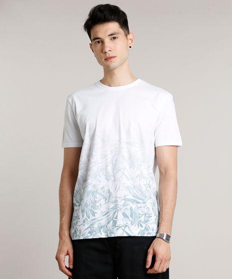 Camiseta-Masculina-Estampada-de-Folhagens-com-Degrade-Manga-Curta-Gola-Careca-Branca-9645372-Branco_1