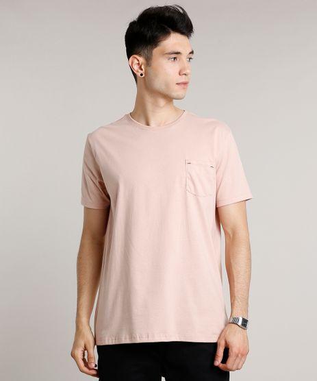 Camiseta-Masculina-Basica-com-Bolso-Manga-Curta-Gola-Careca-Rose-9656087-Rose_1