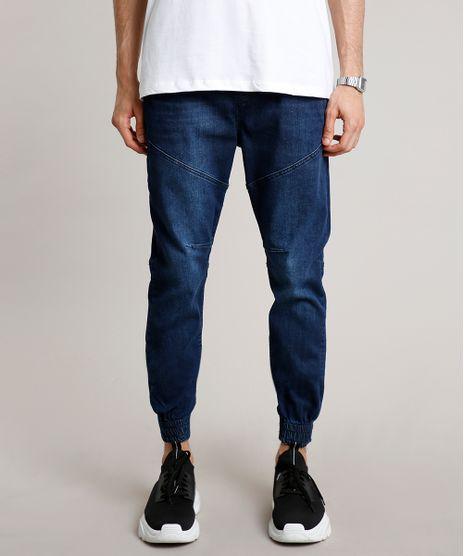 Calca-Jeans-Masculina-Jogger-com-Cordao-Azul-Escuro-9688408-Azul_Escuro_1