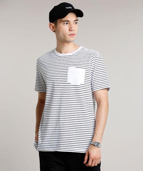 Camiseta-Masculina-Basica-Listrada-com-Bolso-Manga-Curta-Gola-Careca-Branca-9656088-Branco_1
