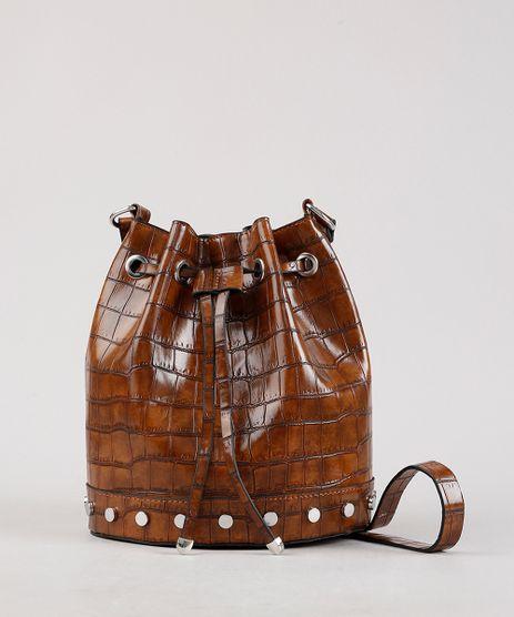Bolsa-Bucket-Feminina-Media-Transversal-Croco-em-Verniz-com-Tachas-Caramelo-9604649-Caramelo_1