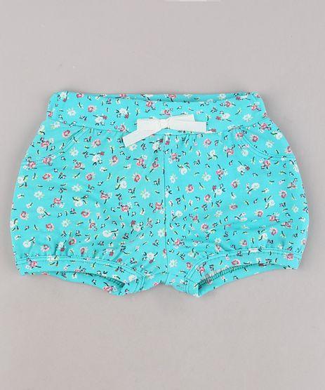 Short-Infantil-Balone-Estampado-Floral-com-Laco-Verde-Agua-9697672-Verde_Agua_1