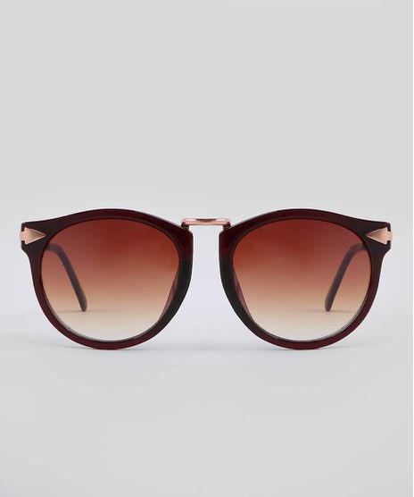 Oculos-de-Sol-Redondo-Feminino-Yessica-Marrom-9731152-Marrom_1