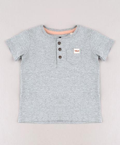 Camiseta-Infantil-com-Bolso-Manga-Curta-Gola-Portuguesa-Cinza-Mescla-9678402-Cinza_Mescla_1