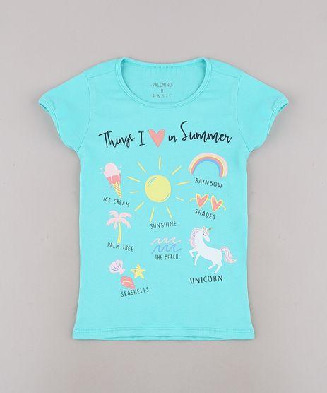 Blusa-Infantil--Things-I-Love-in-Summer--com-Glitter-Manga-Curta-Verde-Agua-9657896-Verde_Agua_1