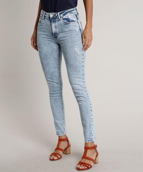 Calca-Jeans-Feminina-Skinny-com-Puidos--Azul-Claro-9666384-Azul_Claro_1