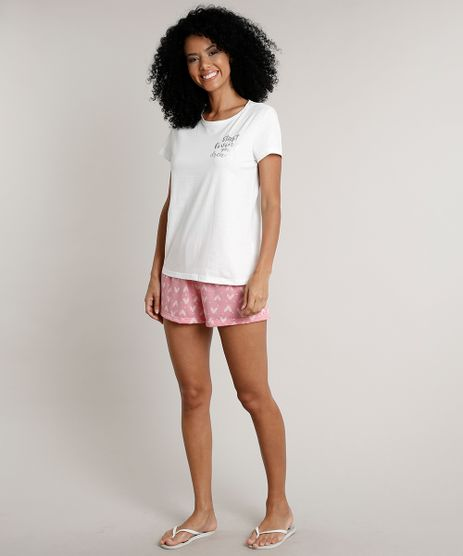 Pijama-Feminino--Living-your-dreams--Manga-Curta-Off-White-9638664-Off_White_1