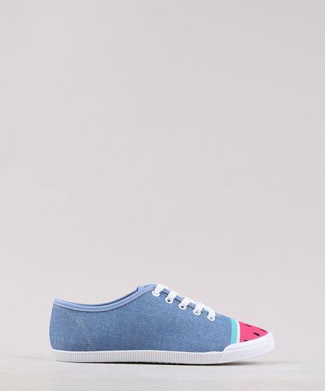 Tenis-Jeans-Infantil-Molekinha-com-Melancia-Azul-Medio-9668061-Azul_Medio_1