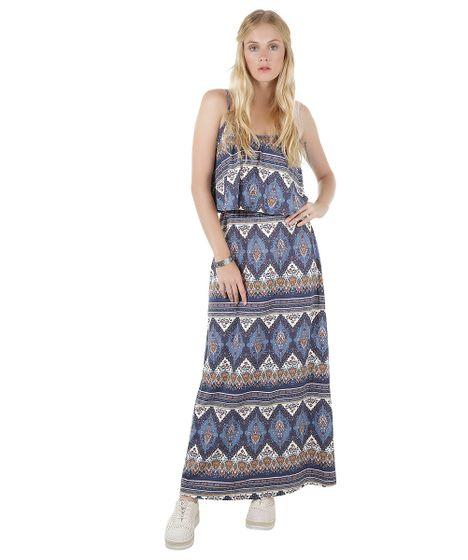 3662d129c Vestido-Longo-Estampado-de-Arabescos-Azul-Marinho-8575221- ...