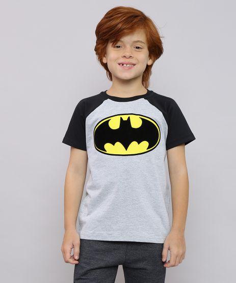 Camiseta-Infantil-Batman-Raglan-Manga-Curta-Cinza-Mescla-9625117-Cinza_Mescla_1