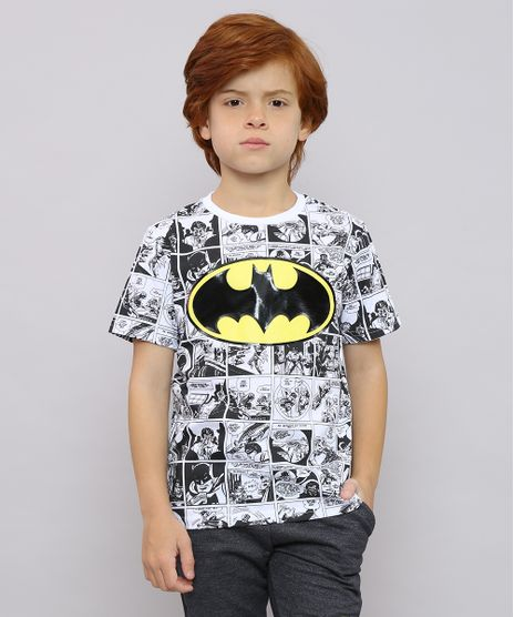 Camiseta-Infantil-Batman-Estampada-de-Quadrinhos-Manga-Curta-Branca-8618577-Branco_1