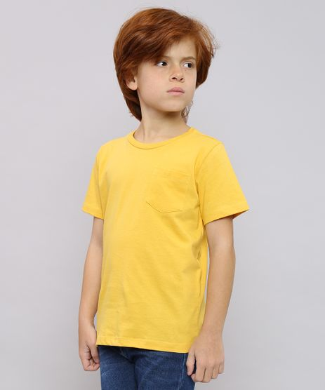 Camiseta-Infantil-Basica-com-Bolso-Manga-Curta-Mostarda-9567186-Mostarda_1