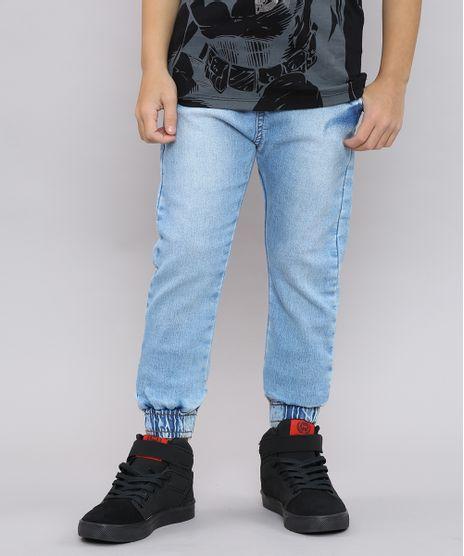 Calca-Jeans-Infantil-Jogger-com-Cordao-Azul-Claro-9610458-Azul_Claro_1