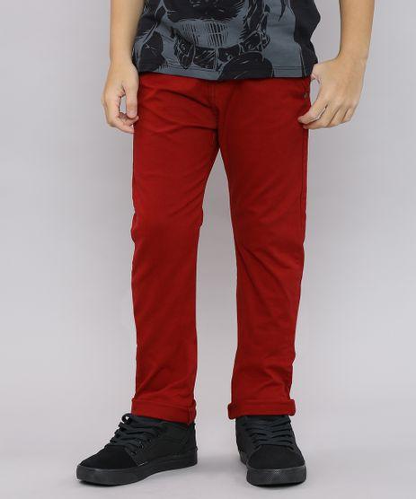 Calca-de-Sarja-Infantil-Color-Slim-com-Bolsos-Vermelha-9528634-Vermelho_1