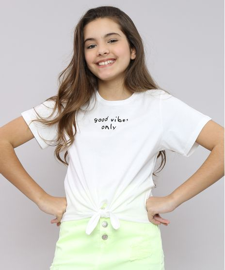 Blusa-Infantil--Good-Vibes-Only--com-No-Manga-Curta-Decote-Redondo-Off-White-9552408-Off_White_1