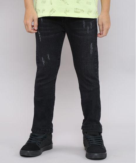 Calca-Jeans-Infantil-com-Puidos-Preta-9540743-Preto_1