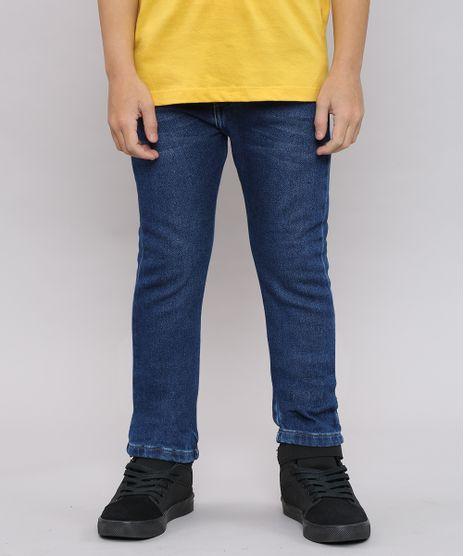Calca-Jeans-Infantil-Color-Slim-com-Bolsos-Azul-Escuro-9636923-Azul_Escuro_1