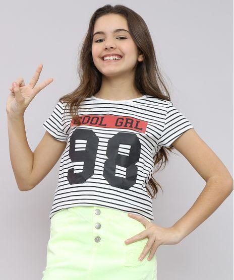 Blusa-Infantil-Listrada--Cool-grl--Manga-Curta-Decote-Redondo-Off-White-9550675-Off_White_1