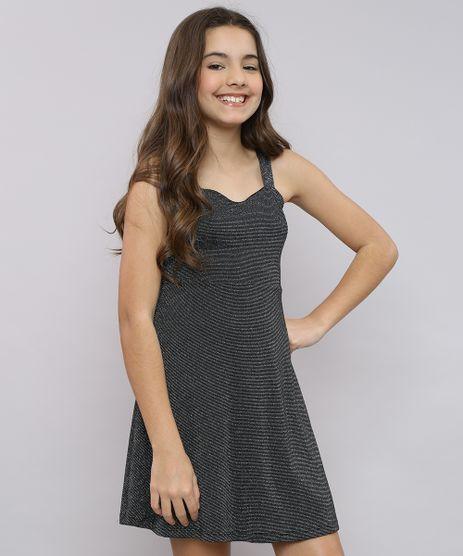 Vestido-Infantil-com-Lurex-Tiras-Cruzadas-Alca-Media-Preto-9662234-Preto_1