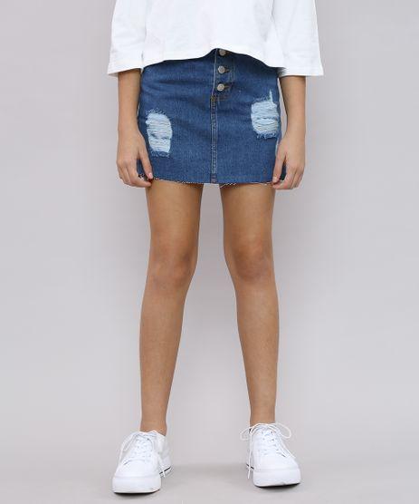 Saia-Jeans-Infantil-com-Rasgos-e-Botoes-Azul-Medio-9621584-Azul_Medio_1
