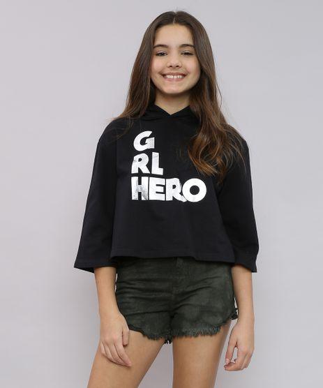 Blusao-Infantil-Cropped-em-Moletom--GRL-Hero--com-Capuz-Preto-9539943-Preto_1