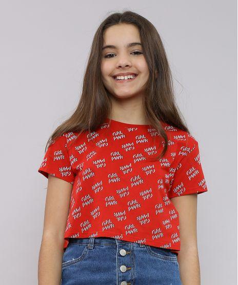 Blusa-Infantil-Cropped-Estampada--Grl-pwr--Manga-Curta-Decote-Redondo-Vermelha-9551796-Vermelho_1