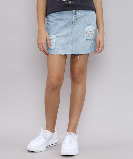 Saia-Jeans-Infantil-Destroyed-com-Botoes-Azul-Claro-9621585-Azul_Claro_1