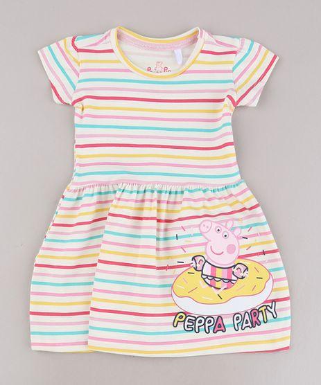Vestido-Infantil-Peppa-Pig-Listrado-Manga-Curta-Off-White-9688722-Off_White_1