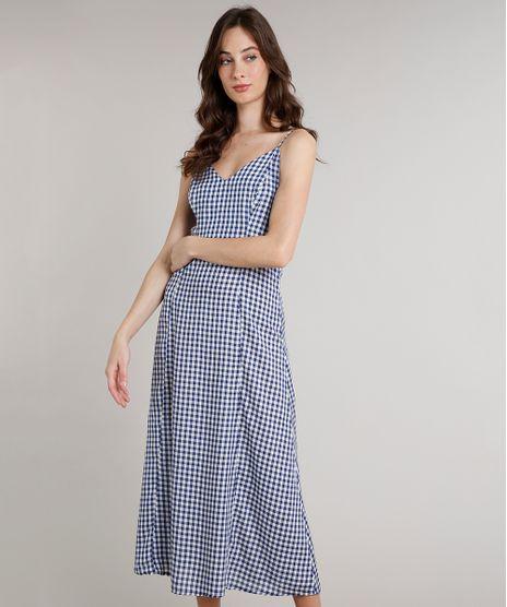 Vestido-Feminino-Mindset-Longo-Estampado-Xadrez-Vichy--Azul-9758910-Azul_1