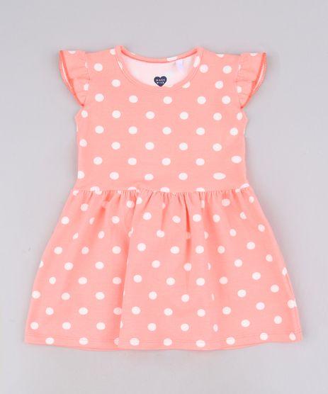 Vestido-Infantil-Estampado-Poa-Sem-Manga-Com-Babado-Laranja-Neon-9679488-Laranja_Neon_1