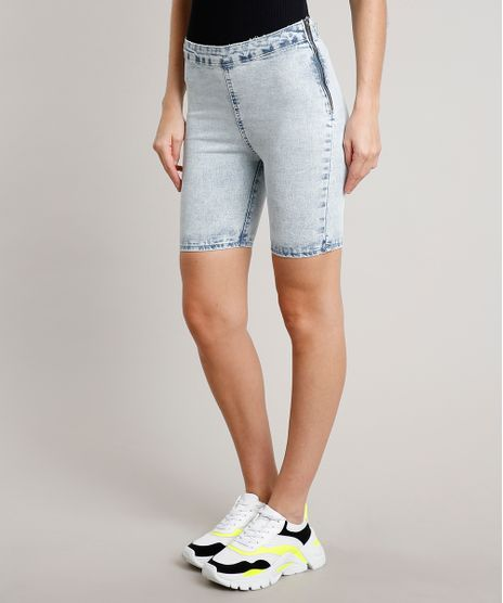 Bermuda-Jeans-Feminina-Ciclista-com-Ziper-Azul-Claro-9664646-Azul_Claro_2