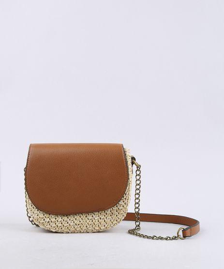 Bolsa-Feminina-Transversal-Pequena-com-Palha-e-Alca-Corrente-Bege-9604664-Bege_1