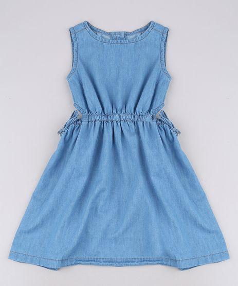 Vestido-Jeans-Infantil-com-Vazado-Sem-Manga-Azul-Medio-9654492-Azul_Medio_1