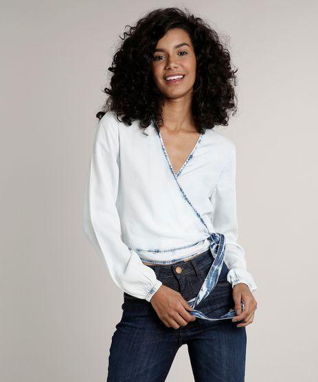 Blusa-Jeans-Feminina-Transpassada-Manga-Longa-Decote-V-Azul-Claro-9670251-Azul_Claro_1