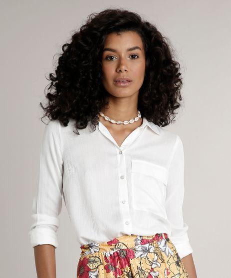 Camisa-Feminina-Ampla-com-Bolso-Manga-Longa--Off-White-9511574-Off_White_1