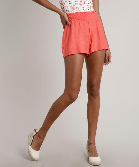 Short-Feminino-Texturizado-com-Babado-Coral-9596616-Coral_1