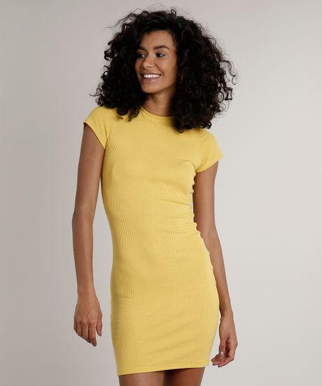 Vestido-Feminino-Basico-Curto-Manga-Curta-Amarelo-9642054-Amarelo_1