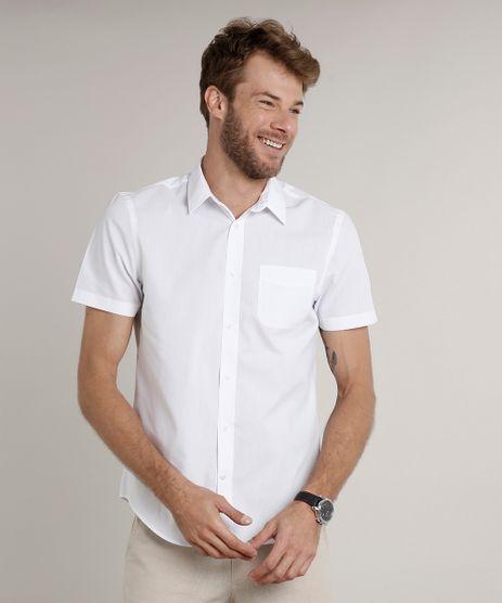 Camisa-Masculina-Comfort-com-Bolso-Manga-Curta-Branca-7602490-Branco_1