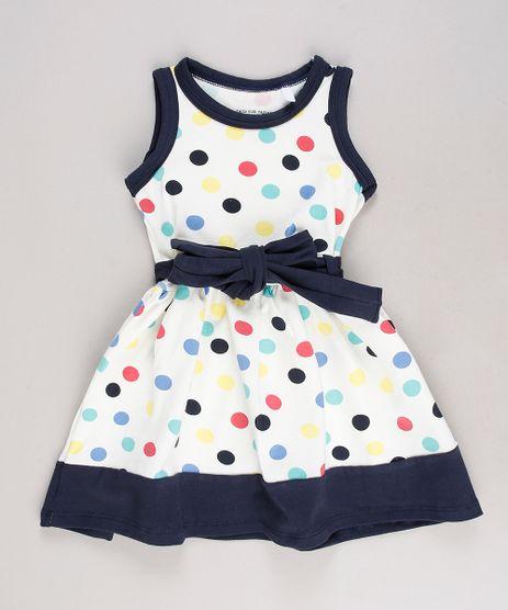 Vestido-Infantil-Estampado-de-Poa-com-Laco-Sem-Manga-Off-White-9653836-Off_White_1