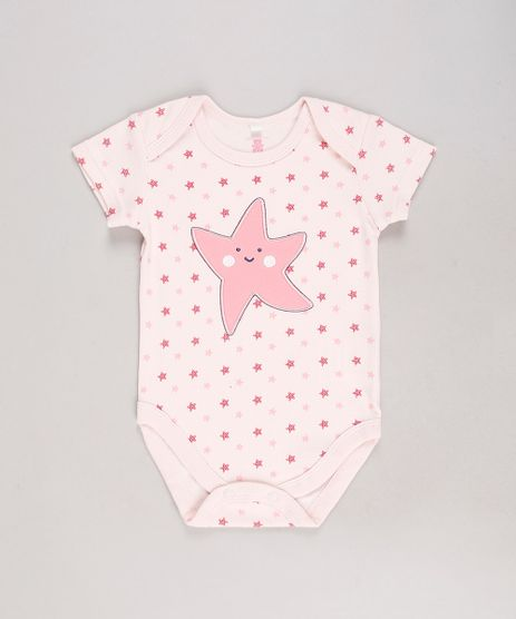 Body-Infantil-Estrela-do-Mar-Estampado-Manga-Curta-Rose-9584508-Rose_1