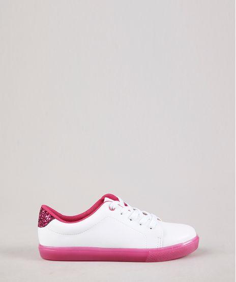 Tenis-Infantil-Molekinha-com-Glitter-e-Solado-Colorido-Branco-9704434-Branco_1