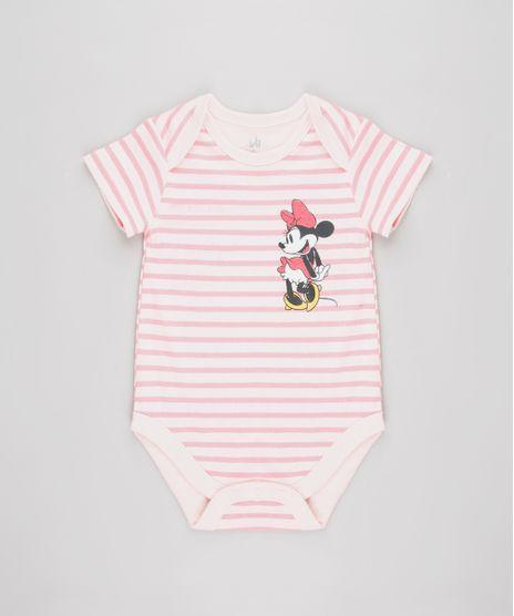 Body-Infantil-Minnie-Listrado-Manga-Curta-Rosa-9584487-Rosa_1