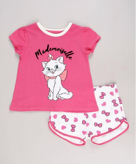 Pijama-Infantil-Marie-Manga-Curta-Rosa-Escuro-9632350-Rosa_Escuro_1