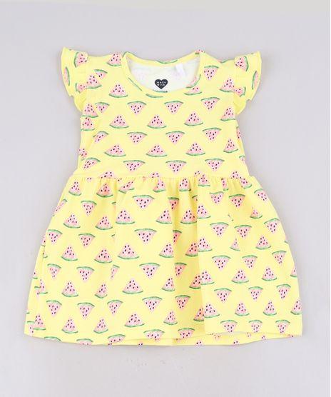 Vestido-Infantil-Estampado-Melancia-Sem-Manga-Com-Babado-Amarelo-9679494-Amarelo_1
