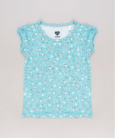 Blusa-Infantil-Estampada-Floral-Manga-Curta-Verde-Agua-9679493-Verde_Agua_1