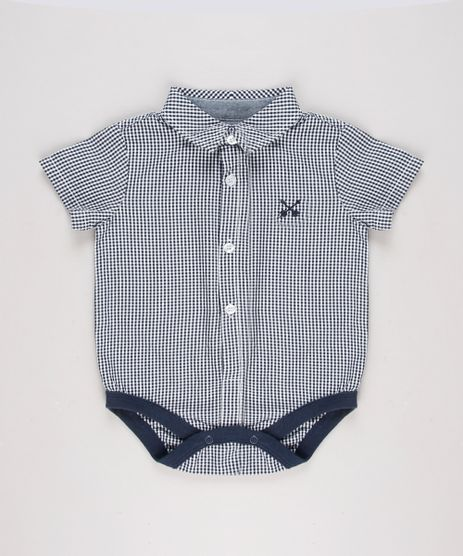 Body-Camisa-Infantil-Estampado-Xadrez-Vichy-Manga-Curta-Azul-Marinho-9574533-Azul_Marinho_1