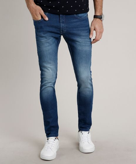 Calca-Jeans-Masculina-Skinny-com-Bolsos-Azul-Escuro-9599257-Azul_Escuro_1