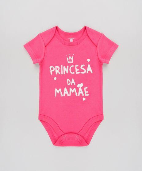 Body-Infantil--Princesa-Da-Mamae--Manga-Curta-Rosa-Escuro-9584501-Rosa_Escuro_1