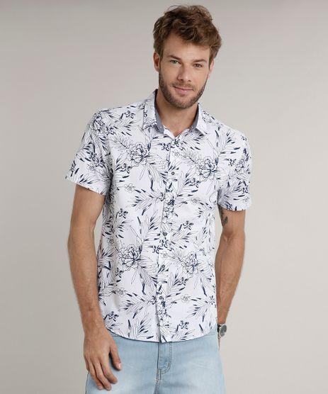 Camisa-Masculina-Comfort-Estampada-Floral-Manga-Curta-Branca-9523412-Branco_1
