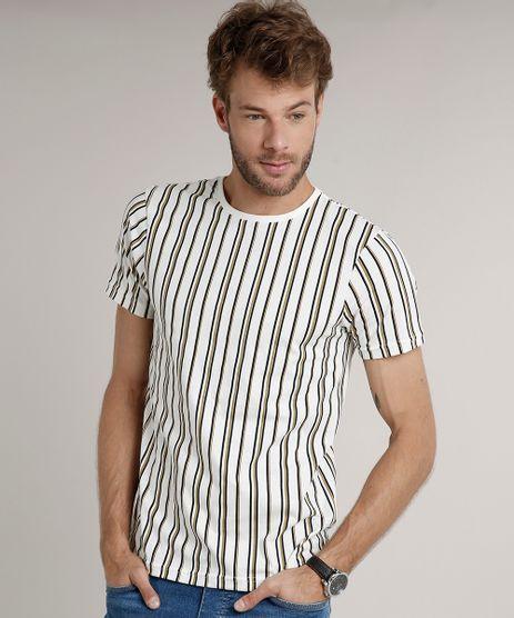 Camiseta-Masculina-Slim-Fit-Listrada-Manga-Curta-Gola-Careca-Off-White-9634526-Off_White_1